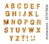 capital wooden block letter abc ...