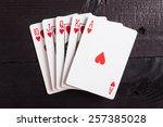 Royal Flush. Playing Cards...
