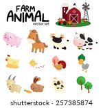 Farm Animal Vector Set    No...