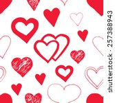 seamless pattern with hearts. | Shutterstock . vector #257388943