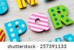 Colorful Wooden Alphabet Letter ...