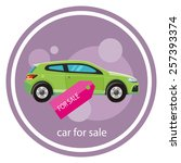 car sale design template with... | Shutterstock .eps vector #257393374
