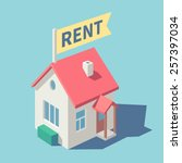 house for rent. vector... | Shutterstock .eps vector #257397034
