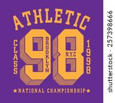 sport athletic new york... | Shutterstock .eps vector #257398666