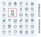 outline web icons set   search... | Shutterstock .eps vector #257399803