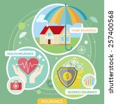 insurance icons set concepts of ... | Shutterstock .eps vector #257400568