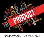 product word cloud  business... | Shutterstock .eps vector #257400760