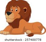cute lion cartoon | Shutterstock .eps vector #257400778