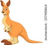 funny kangaroo | Shutterstock .eps vector #257400814