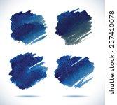 brushstroke banners. ink blue... | Shutterstock .eps vector #257410078