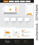 website template. vector... | Shutterstock .eps vector #257414644