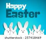 vector   happy easter rabbit... | Shutterstock .eps vector #257418469