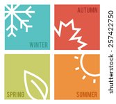 season icons.vector... | Shutterstock .eps vector #257422750
