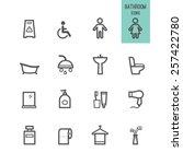 bathroom icons. vector... | Shutterstock .eps vector #257422780