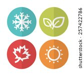 season icons.vector... | Shutterstock .eps vector #257422786