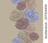 vector illustration. seamless... | Shutterstock .eps vector #257424454
