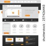 website template. vector... | Shutterstock .eps vector #257426443