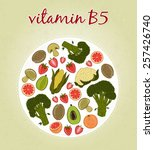 vitamin b5   fruits and... | Shutterstock .eps vector #257426740