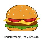 hamburger cartoon vector...