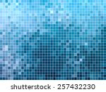 abstract square pixel mosaic... | Shutterstock .eps vector #257432230
