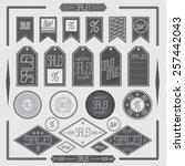 sale labels | Shutterstock .eps vector #257442043