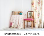 vintage style interior with... | Shutterstock . vector #257446876