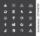 a set of 20 abstract icons  ... | Shutterstock .eps vector #257448700