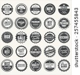 set of retro vintage badges  | Shutterstock .eps vector #257455843