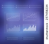 business info graphic with... | Shutterstock .eps vector #257458234