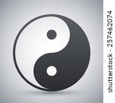 vector yin and yang symbol | Shutterstock .eps vector #257462074