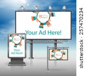 color outdoor advertising... | Shutterstock .eps vector #257470234