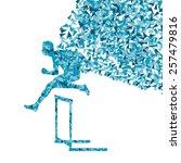 hurdle racer man barrier... | Shutterstock .eps vector #257479816