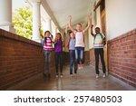 full length portrait of school... | Shutterstock . vector #257480503