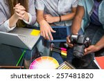 close up of creative business... | Shutterstock . vector #257481820