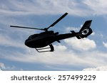 Helicopter Silhouette In The...