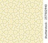 geometric light golden pattern  ... | Shutterstock .eps vector #257502940