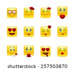 set beauty valentine emoticons... | Shutterstock .eps vector #257503870