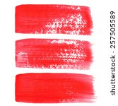 red ink vector brush strokes | Shutterstock .eps vector #257505589