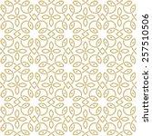 oriental seamless ornamental... | Shutterstock .eps vector #257510506