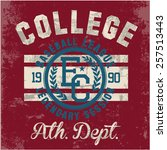 college   vector graphics and... | Shutterstock .eps vector #257513443
