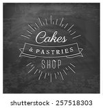 cakes and pastries shop... | Shutterstock .eps vector #257518303