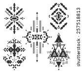 tribal elements  ethnic...   Shutterstock . vector #257518813