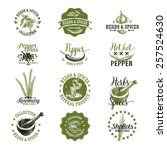 vector set of herbs and spices  ... | Shutterstock .eps vector #257524630
