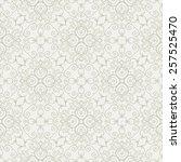 Stock vector vector seamless wallpaper vintage pattern retro background 257525470