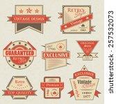 vector set of vintage labels.... | Shutterstock .eps vector #257532073