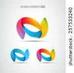 abstract vector logo design... | Shutterstock .eps vector #257533240
