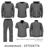 sport men's wear collection.... | Shutterstock .eps vector #257534776