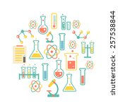 chemistry icons background for  ... | Shutterstock . vector #257538844
