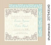 beautiful wedding invitation... | Shutterstock .eps vector #257543140
