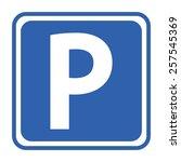 parking sign | Shutterstock .eps vector #257545369